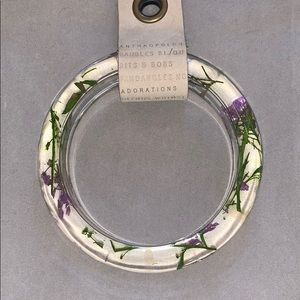 Anthropologie bracelet with dried flowers